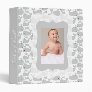 Gray Whales Photo Ready Baby Album 3 Ring Binder