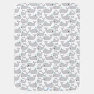 Gray Whales Stroller Blanket