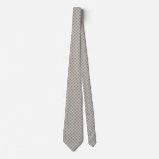 Gray, White, and Black Circle-and-Line Pattern Tie