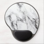 "Gray White And Black Marble Stone Gel Mouse Pad<br><div class=""desc"">Elegant white and gray marble stone with black crack</div>"