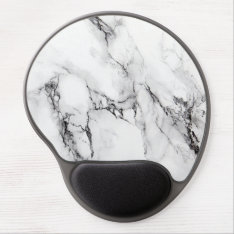Gray White And Black Marble Stone Gel Mouse Pad at Zazzle
