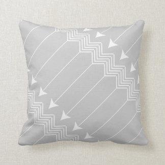 Gray & White Arrow Herringbone Pattern Pillow