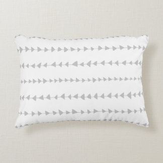 Gray White Aztec Arrows Pattern Accent Pillow