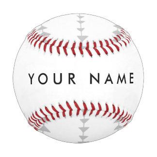 Gray White Aztec Arrows Pattern Baseball