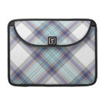 Gray, white, blue, red and green tartan MacBook pro sleeves