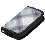 Gray, white, blue, red and green tartan planner
