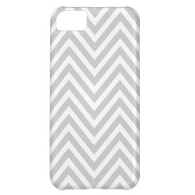 GRAY WHITE CHEVRON PATTERN CASE FOR iPhone 5C