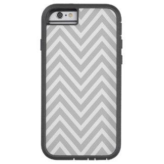 GRAY WHITE CHEVRON PATTERN TOUGH XTREME iPhone 6 CASE