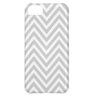 GRAY WHITE CHEVRON PATTERN iPhone 5C COVER