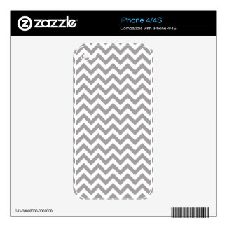 Gray White Chevron Pattern Skin For The iPhone 4