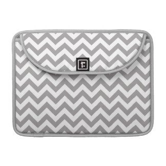 Gray White Chevron Pattern Sleeve For MacBooks