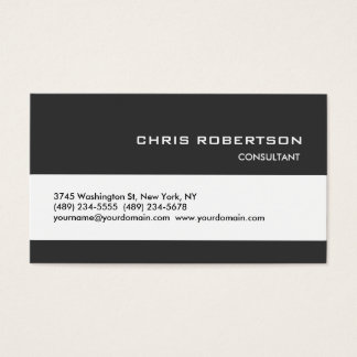 Gray White Classical Trendy Standard Business Card