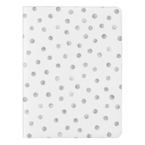 Gray White Confetti Dots Pattern Extra Large Moleskine Notebook