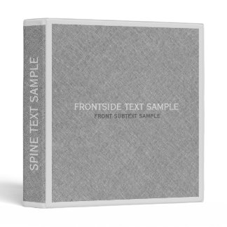 Gray & White Faux Linen Texture Look Binder