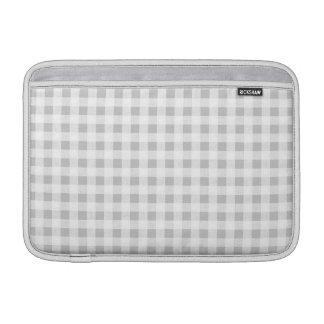 Gray White Gingham Pattern MacBook Air Sleeves