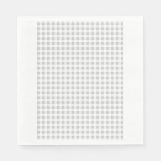 Gray White Gingham Pattern Napkin