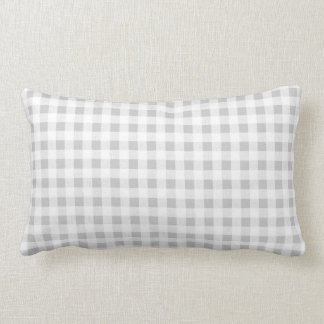 Gray White Gingham Pattern Pillow