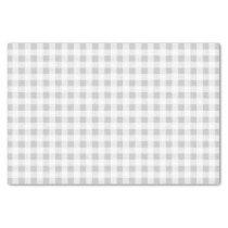 Gray White Gingham Pattern Tissue Paper