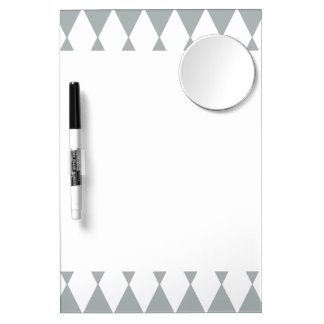 Gray White Harlequin Pattern Dry Erase Whiteboards