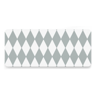 Gray White Harlequin Pattern Invite