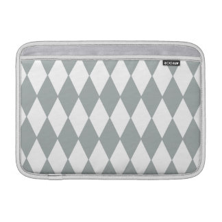 Gray White Harlequin Pattern Sleeve For MacBook Air