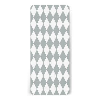 Gray White Harlequin Pattern Personalized Invites