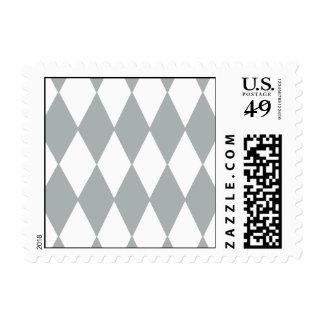 Gray White Harlequin Pattern Stamp
