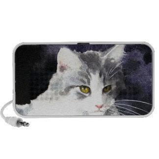 Gray & white kitten speaker