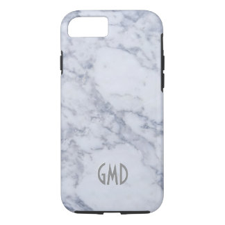 Gray & White Marble Stone Print iPhone 8/7 Case