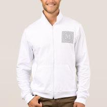 Gray & White Modern Chevron Custom Monogram Jacket