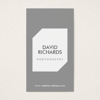 GRAY/WHITE PHOTO LOGO Photographer's Business Card