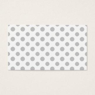 Gray White Polka Dots Pattern Business Card