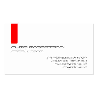 Gray White Red Attractive Business Card