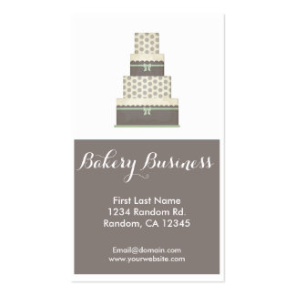 Gray white simple custom bakery business cards
