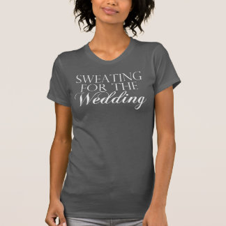 Gray & White Sweating For The Wedding. Singlet T-Shirt