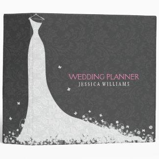 Gray & White Wedding Dress & Vintage Lace Binder