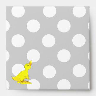 Gray, White, & Yellow Baby Shower Envelope