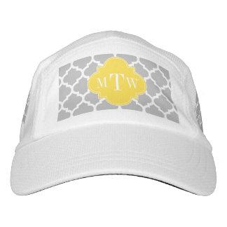 Gray Wht Moroccan #5 Pineapple 3 Initial Monogram Hat