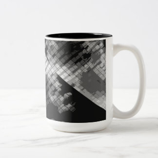 Gray Window Panes Two-Tone Coffee Mug