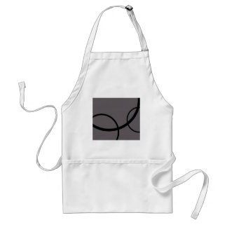 Gray with Black circles Adult Apron