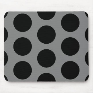 Gray with Black Dots Mouse Pad