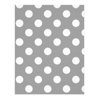 Gray with White Polka Dots Letterhead
