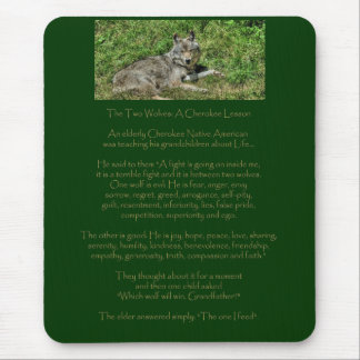 Gray Wolf & Animal Rights Poem Animal-lover Design Mouse Pad
