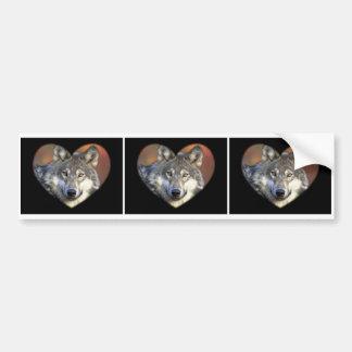Gray Wolf Bumper Sticker