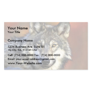 Gray wolf business cards
