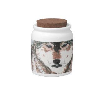 Gray Wolf Candy Jars
