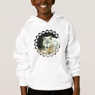 Gray Wolf Children's Hooded Sweatshirt