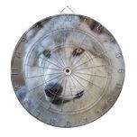 Gray Wolf Closeup Dart Board