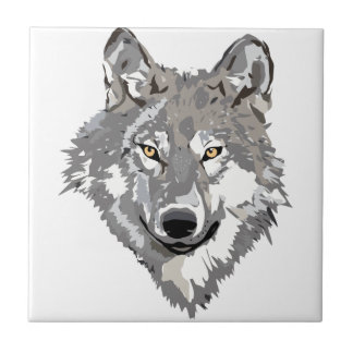 Gray Wolf Design Ceramic Tile