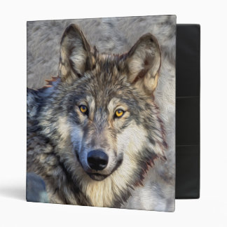 Gray Wolf Dignity 3 Ring Binder